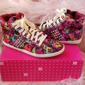 Funky studded colorful sneakers
